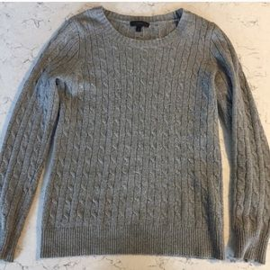 J Crew Gray Cableknit Sweater